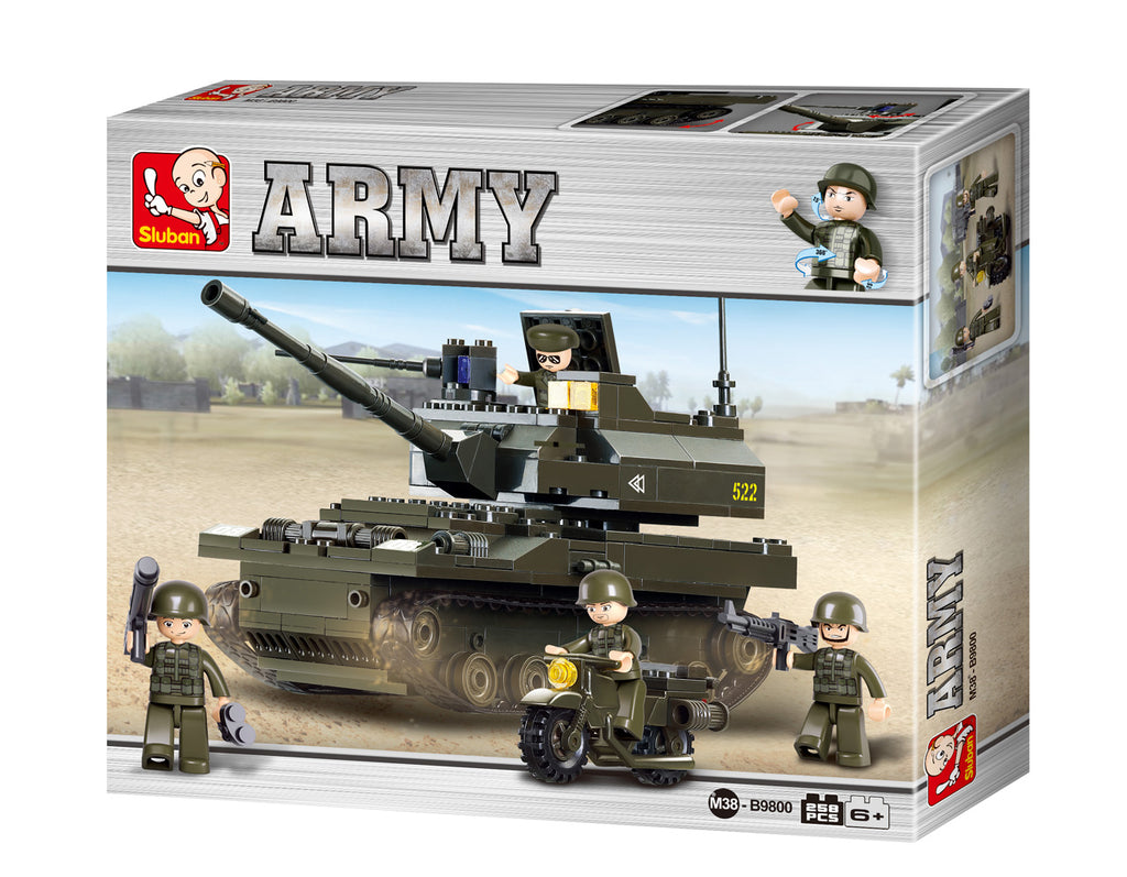 #B9800 Army Land Forces K-9 Tank Building Block Set