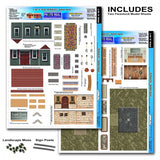 BK6403 1/64 Garden Houses Building Kit