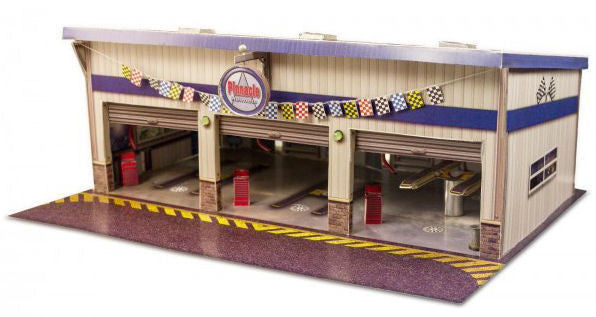 BK6423 1/64 Pit Garage Building Kit