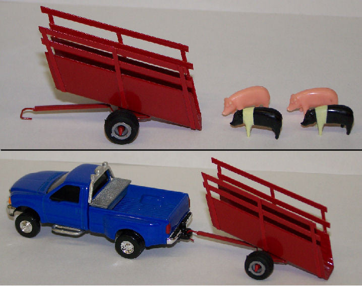 Toy Cattle Chute : C red portable loading chute action toys