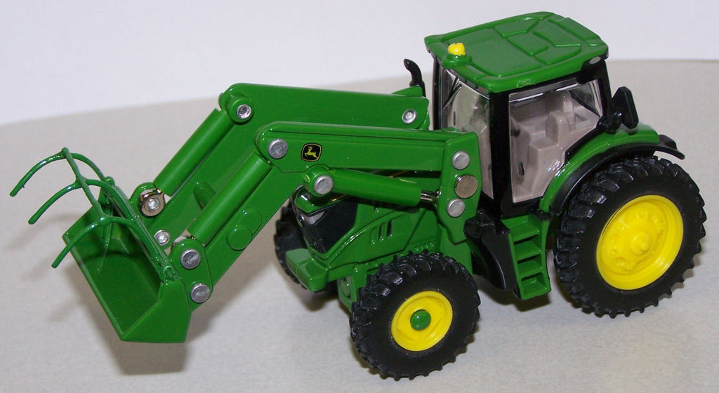 #C010 1/64 John Deere 6210R Tractor with Loader & Custom Grapple Forks