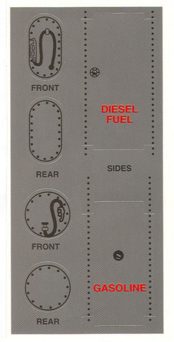 #DC01 1/64 Gas & Fuel Tank Decals