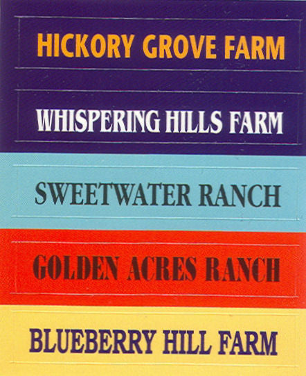 #DC04 1/64 Assorted Color Farm & Ranch Name Decals