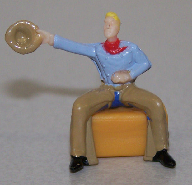 #FCA115 1/64 Sitting Cowboy Waving Hat