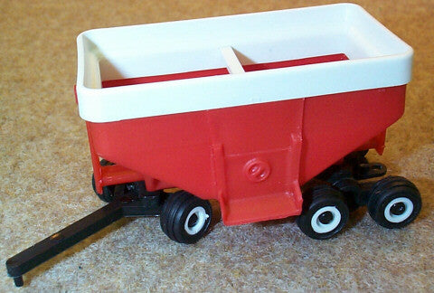 #HT9102 1/64 Red Gravity Wagon with Tandem Axle