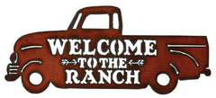 #IM1228 Welcome to the Ranch Truck Metal Sign