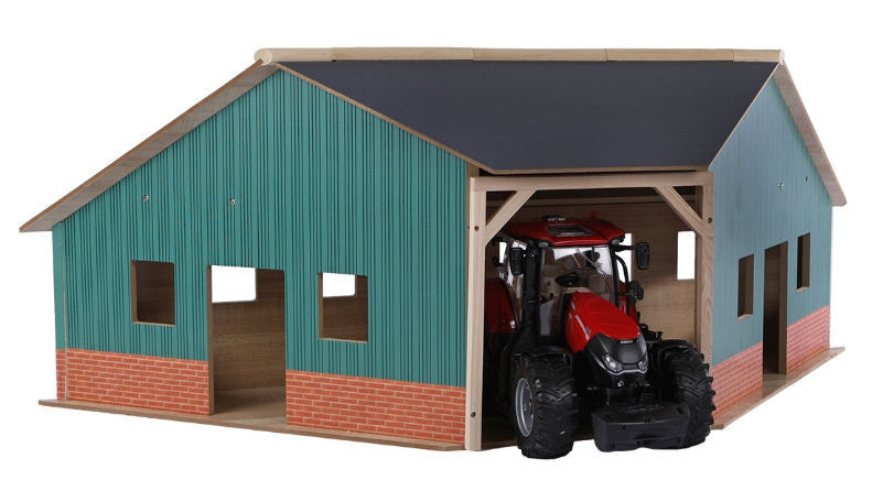 #KG610339 1/16 Wooden Farm Machinery Corner Shed