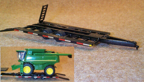 #MFT9009 1/64 Black Combine Trailer