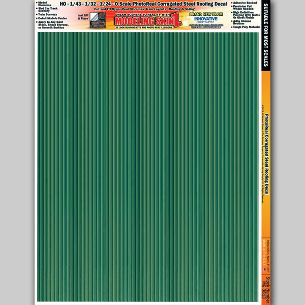 Mg3813 Photo Real Green Corrugated Steel Roofing Decal