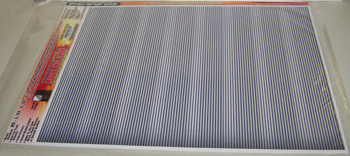 #MG3814 Photo Real Corrugated Galvanized Steel Decal