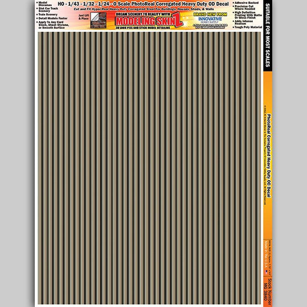 #MG3840 Photo Real Brown Corrugated Heavy Duty OD Decal