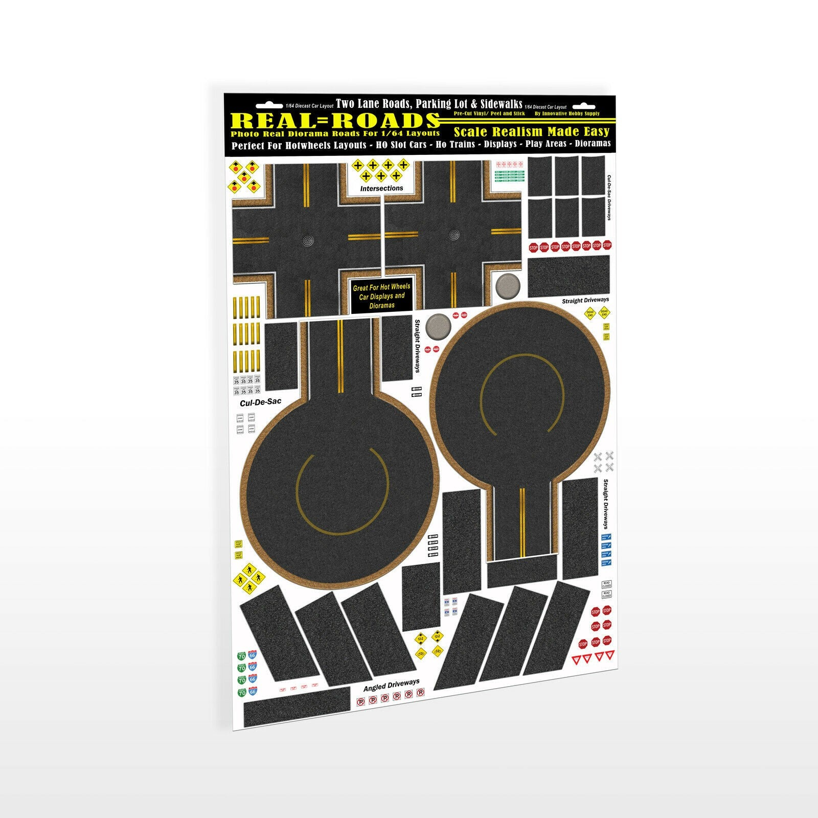 #MG9002 1/64 Real Roads Intersections & Cul-de-Sacs Vinyl Kit
