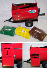 #RBT11 Red Lil' Mix Feed Wagon with Feed