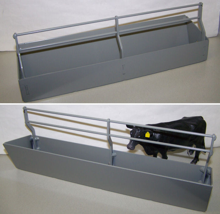 #RBT13 1/16 Gray Fenceline Feed Bunk
