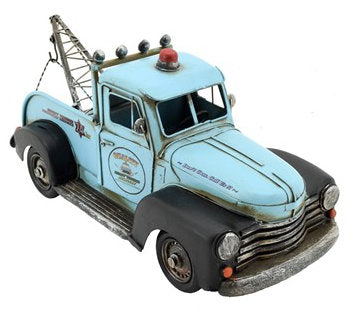 #VA170003 Vintage Metal Tow Truck, Assorted Colors