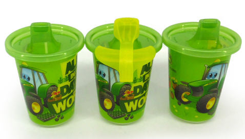 #Y9613 John Deere Take & Toss Sippy Cup Set  - 10 oz.