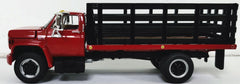 #60-0889 1/64 Red & Black GMC 6500 Single Axle with Stake Bed