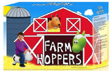 #FHA1101 Farm Hoppers White Cow
