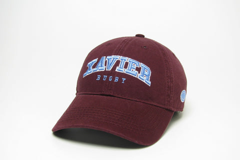 Maroon Twill Rugby Hat