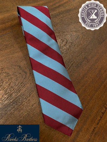Maroon&Blue Striped Tie