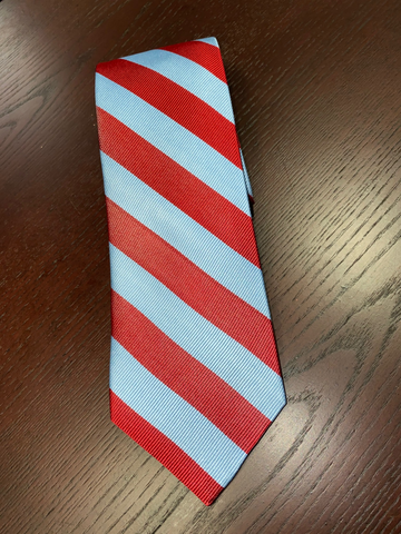 Maroon and Blue Stripe Tie