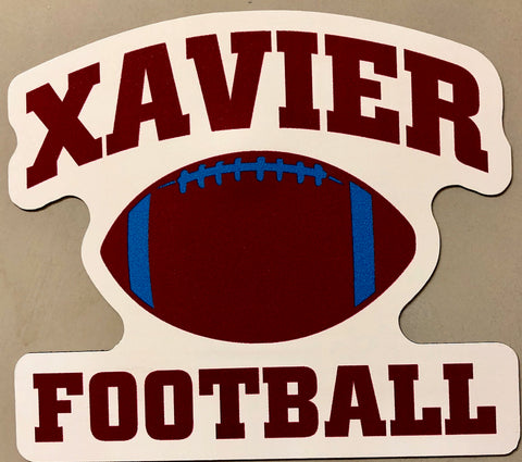 Xavier Football Magnet