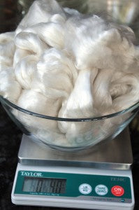 Weighing out the wool