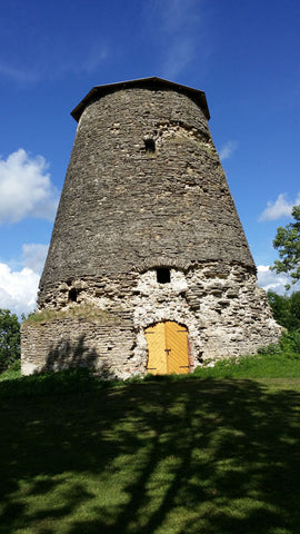 Tower at Lihula castle ruins