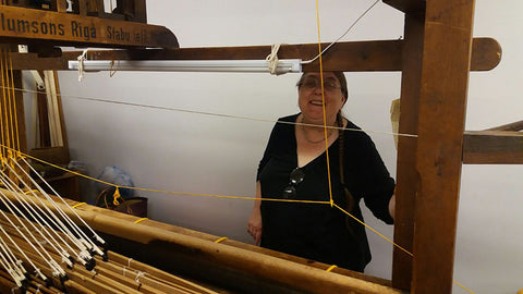 Old loom in the fiber studio