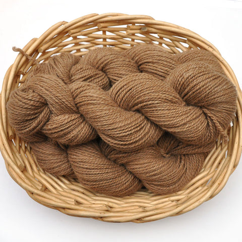 Northwest Natural Yarn - Locally Produced Alpaca / Merino Wool Yarn, DK weight, 200 yards - Natural Brown