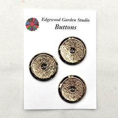 Silver Buttons with Scratch Pattern, Large - Set of 3