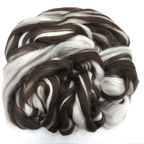 Corriedale Wool Roving Destash - Natural Color - 6 ounces