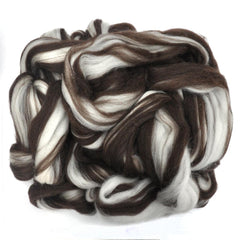 Natural color Corriedale wool roving for hand spinning and felting