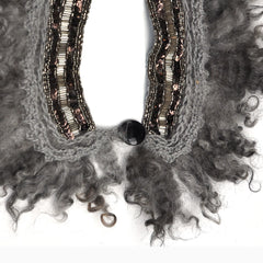 Wool and beadwork necklace, clasp detail