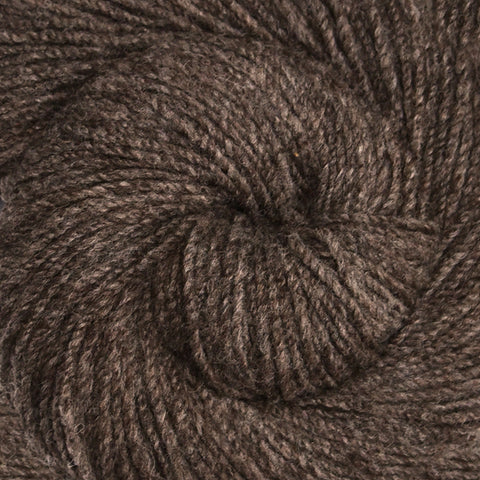 Handspun yarn - Columbia wool yarn, heavy worsted weight, 215 yards - Natural Gray