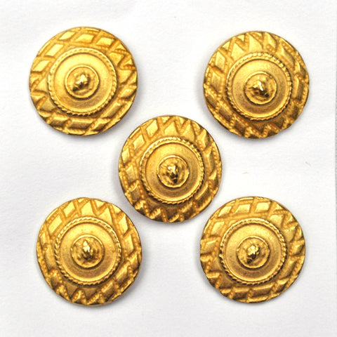 Gold Shield Buttons  - Set of 5