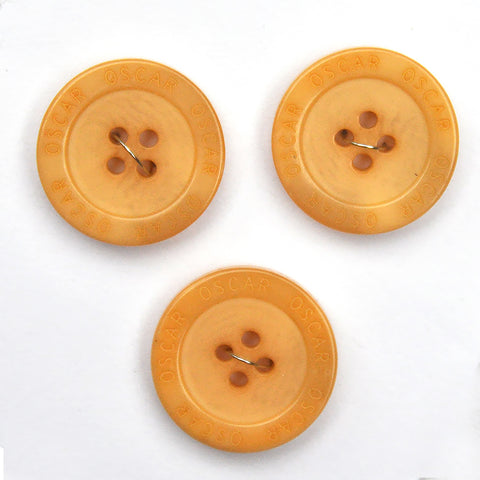 Amber Flat Buttons - Set of 3