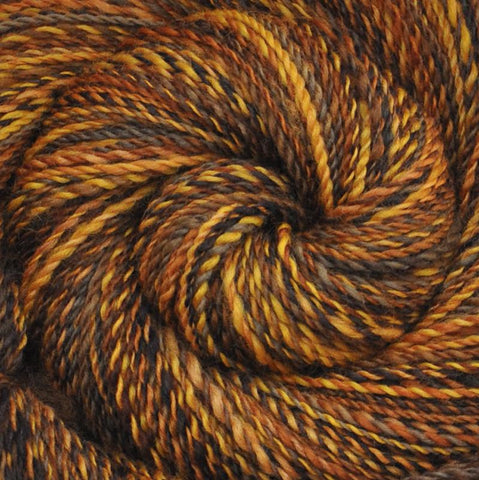 Handspun BFL wool yarn, DK weight, 300 yards - Panning for Gold