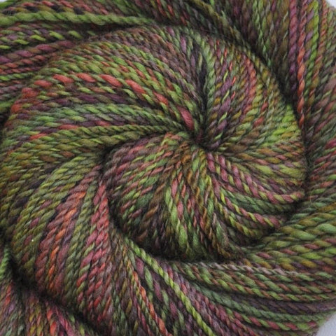 Handspun BFL wool yarn, Worsted weight, 260 yards - Boy Scout Camp