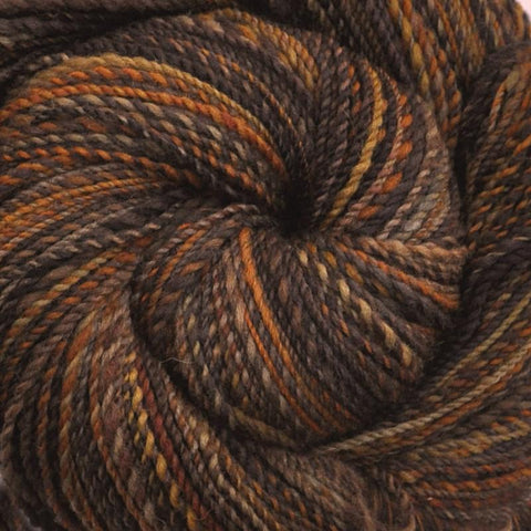 Handspun Gray Shetland wool yarn, Worsted weight, 370 yards - Prairie Grouse