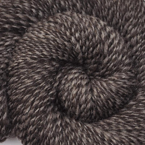 Handspun Shetland wool yarn, Worsted weight, 330 yards - Light & Dark Shetland