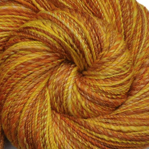 Handspun Silk / BFL wool yarn, Fingering weight, 470 yards - Honeycomb