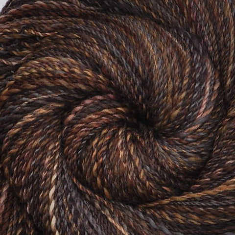 Handspun Silk / Polwarth wool yarn, DK weight, 320 yards - Hungry Sparrows