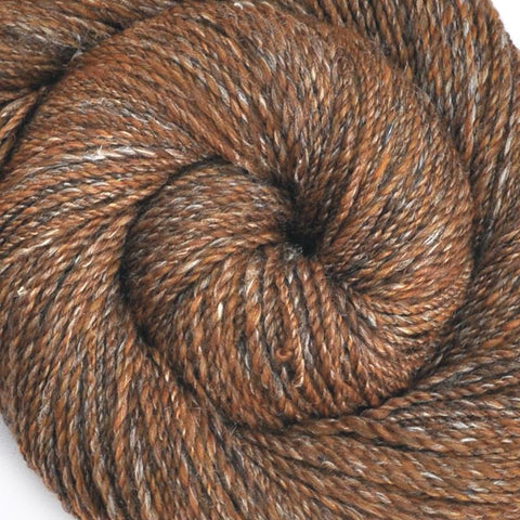 Handspun Silk / Merino wool yarn, Fine Sport weight, 420 yards - Mushroom Hunt