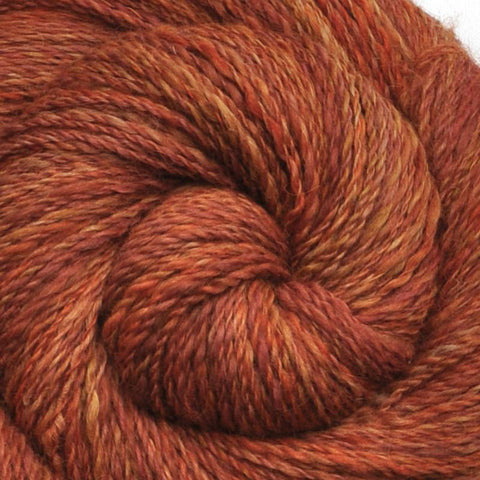 Handspun Alpaca / Merino wool yarn, Fine Sport weight, 335 yards - Burnt Sugar