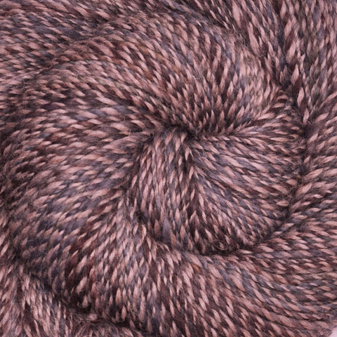 Handspun yarn - Alpaca / Merino wool, worsted weight, 370 yards - Clouds at Dawn