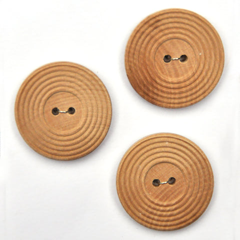 Paintable Wooden Buttons - Set of 3