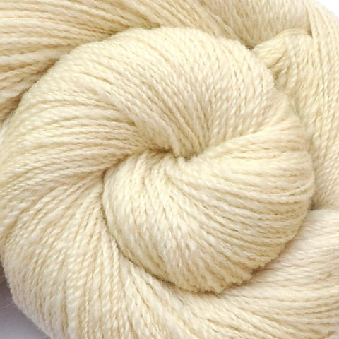 Handspun Corriedale wool yarn, Fine Sport weight, 570 yards - Natural White