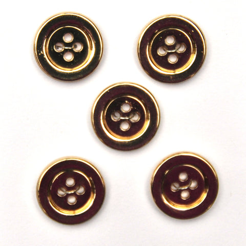 Gold Buttons - Set of 5