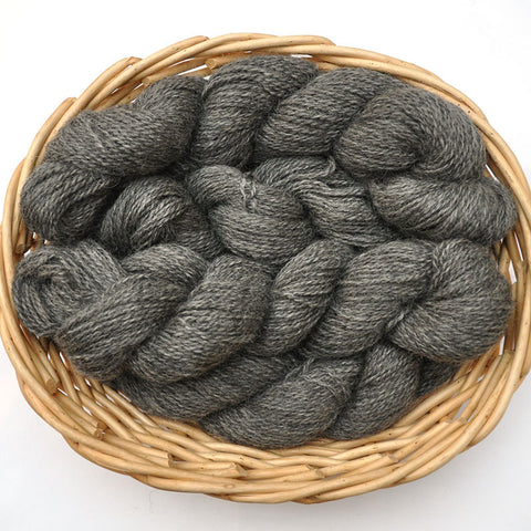 Northwest Natural Yarn - Locally Produced Gotland Wool Yarn, DK weight, 200 yards - Natural Gray